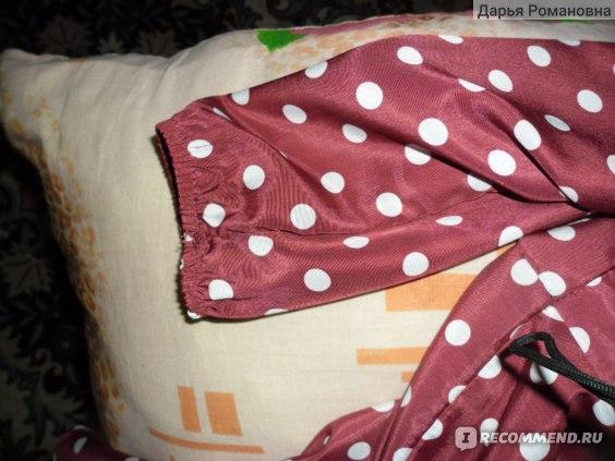 Платье AliExpress Women Lady Vintage Elegant Long Sleeve O Neck Polka Dot Chiffon Party фото