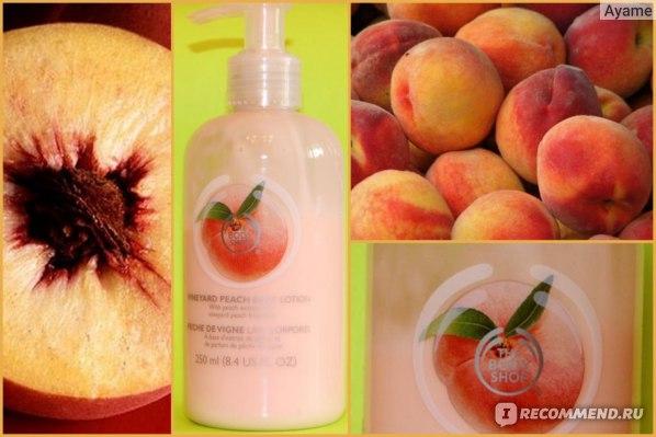 Молочко для тела The body shop Персик (Vineyard Peach)  фото