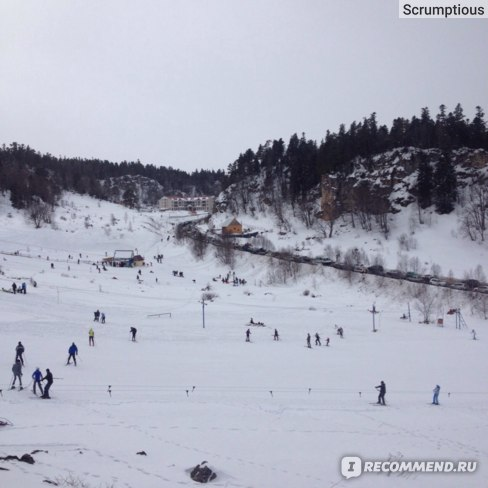 Лагонаки катание на лыжах