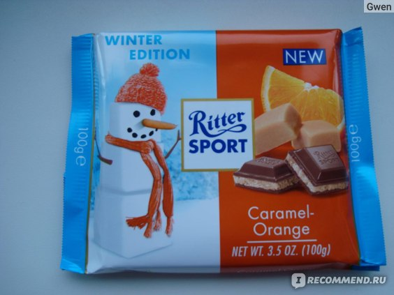 Шоколад Ritter Sport Caramel-Orange фото