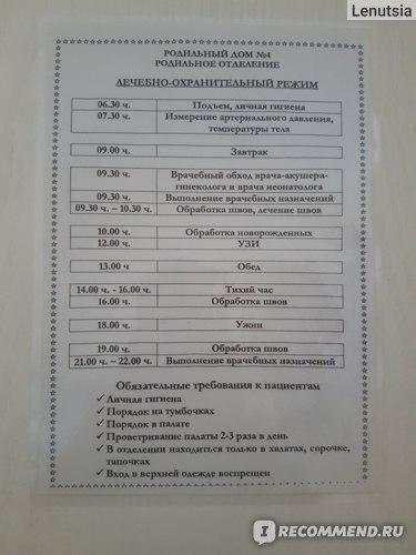 Палата повышенной комфортности Роддома №4 г. Калининграда