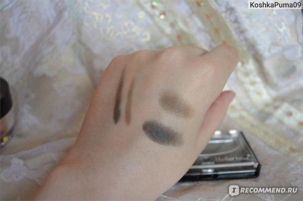 Тени для бровей Buyincoins 2 Color Cosmetic Makeup Eyeshadow Eyebrow Eye Brow Powder + Brush  фото