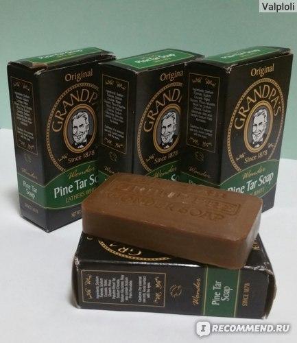 Мыло Grandpa's Wonder Pine Tar Soap, 3.25 oz (92 g) фото