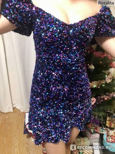 Платье ZARA с пайетками