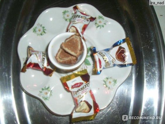 Конфеты АВК Прихоть  с  шоколадным вкусом фото