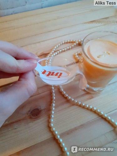 Массажная свеча для поцелуев Intt Peach с ароматом персика