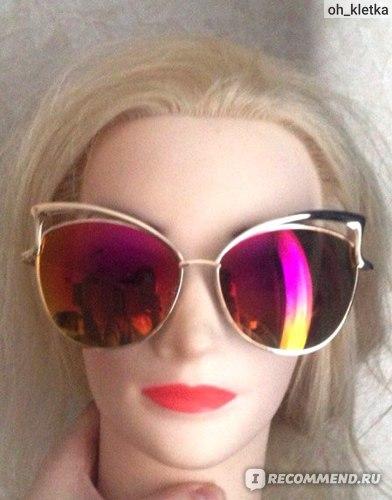 Солнцезащитные очки Aliexpress New s Metal Frame Dita Sexy Cat Eye Sunglasses  фото