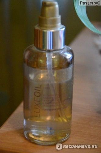 Масло для волос Wella Luxe Oil SP Восстанавливающий эликсир для защиты кератина волоса фото
