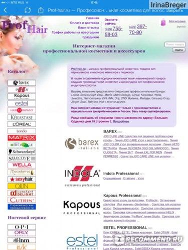 Общий вид главной страницы сайта