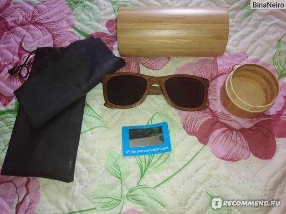 Солнцезащитные очки Aliexpress bamboo sunglasses 2015 fashion polarized sunglasses popular new design wooden wayfarer sunglasses for free shipping фото