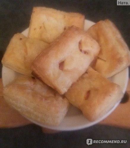 готовые слойки с ветчиной и сыром