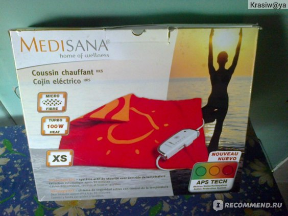 Электрогрелка Medisana  C наволочкой. фото