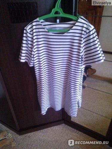 Платье AliExpress 2015 Summer Casual Women Vintage Brand Desigual Black and White Striped Round Neck Short Sleeve Retro Straight Mini Dress фото