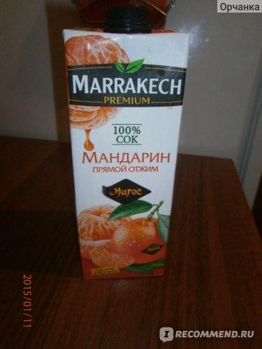 Сок Marrakech 100% сок прямого отжима,мандарин фото