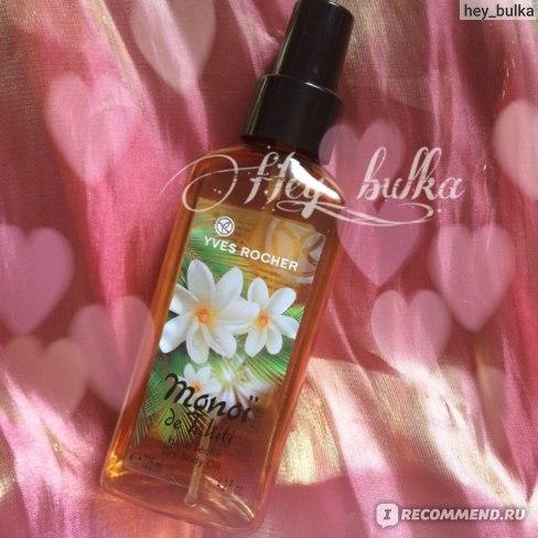 Сухое масло для тела и волос Ив Роше / Yves Rocher Моной де Таити / Monoi de Tahiti фото