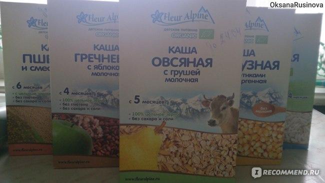 Детское питание Fleur Alpine Каша детcкая молочная овсяная с грушей фото