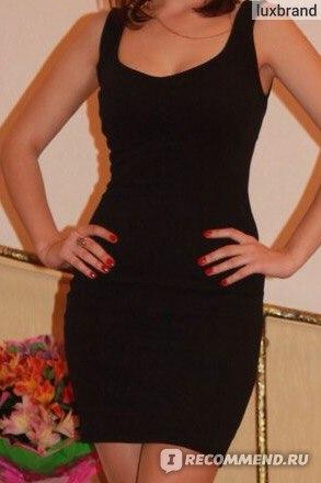 Платье Bershka Черное классическое фото