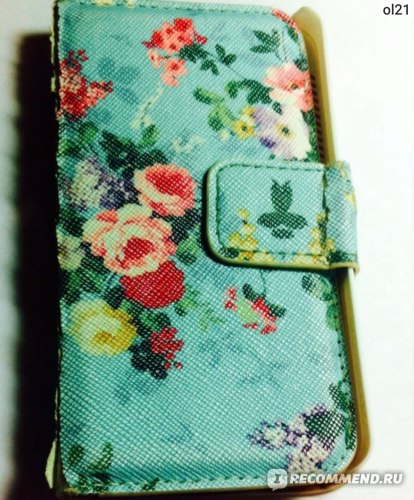 Чехол для мобильного телефона Ebay PU LEATHER WALLET FLIP VINTAGE FLORAL STAND CASE COVER FOR IPHONE 4 4S 5 5S 5C фото