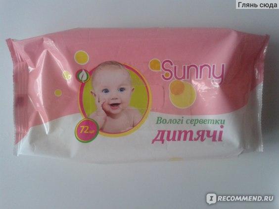 Влажные салфетки Sunny детские очищающие  фото