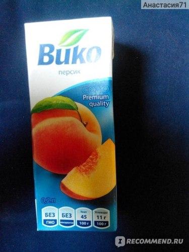 Сок ВИКО Персиковый нектар с мякотью фото
