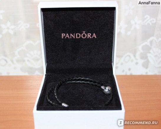 Браслет Pandora двойной кожаный  BRACELET DOUBLE LEATHER BLACK фото