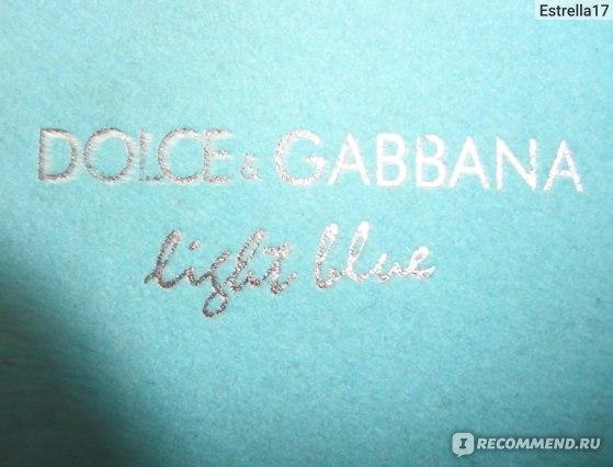 "Dolce & Gabbana  ""Light Blue"".  фото"