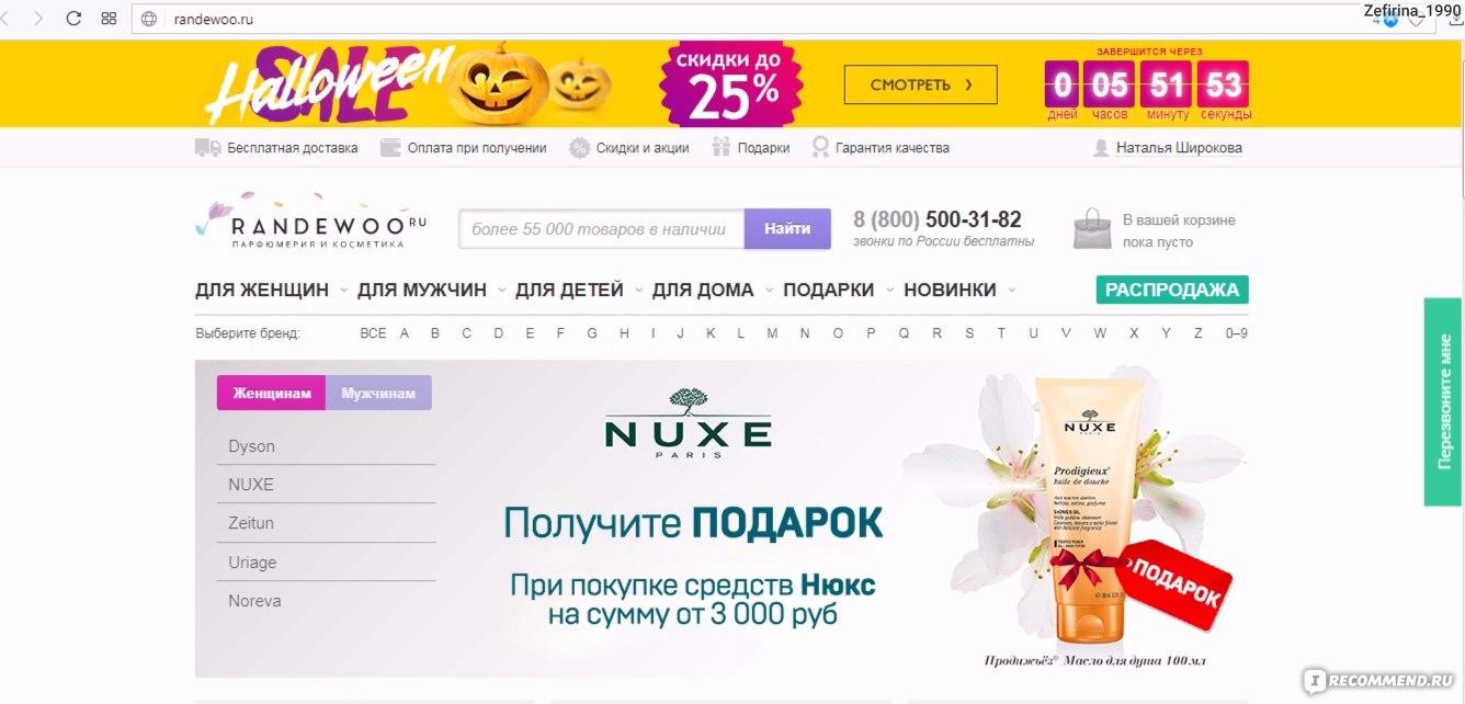 Интернет-магазин нишевой и селективной парфюмерии randewoo